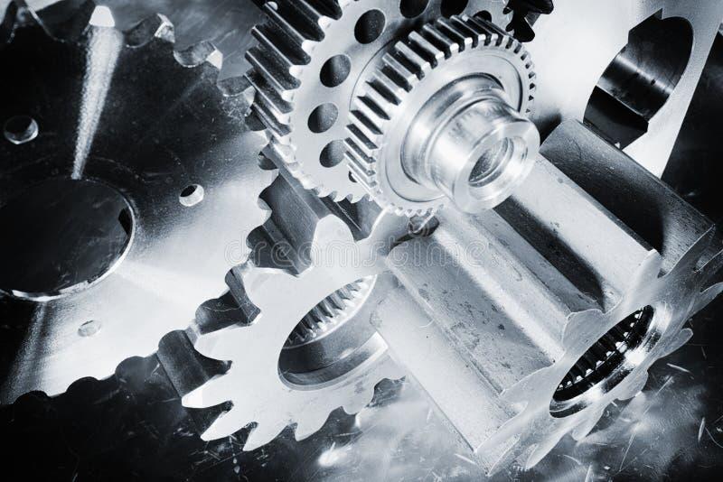 Engrenagens e peças titanium aeroespaciais imagens de stock royalty free