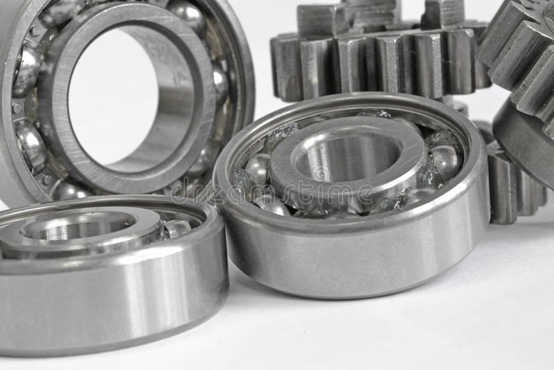 Engrenagens e rolamentos fotografia de stock