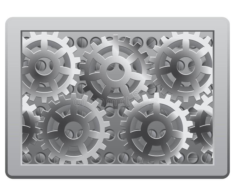 Engrenagens no frame ilustração do vetor