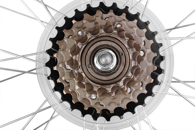 Engrenages de transmission de bicyclette photo stock