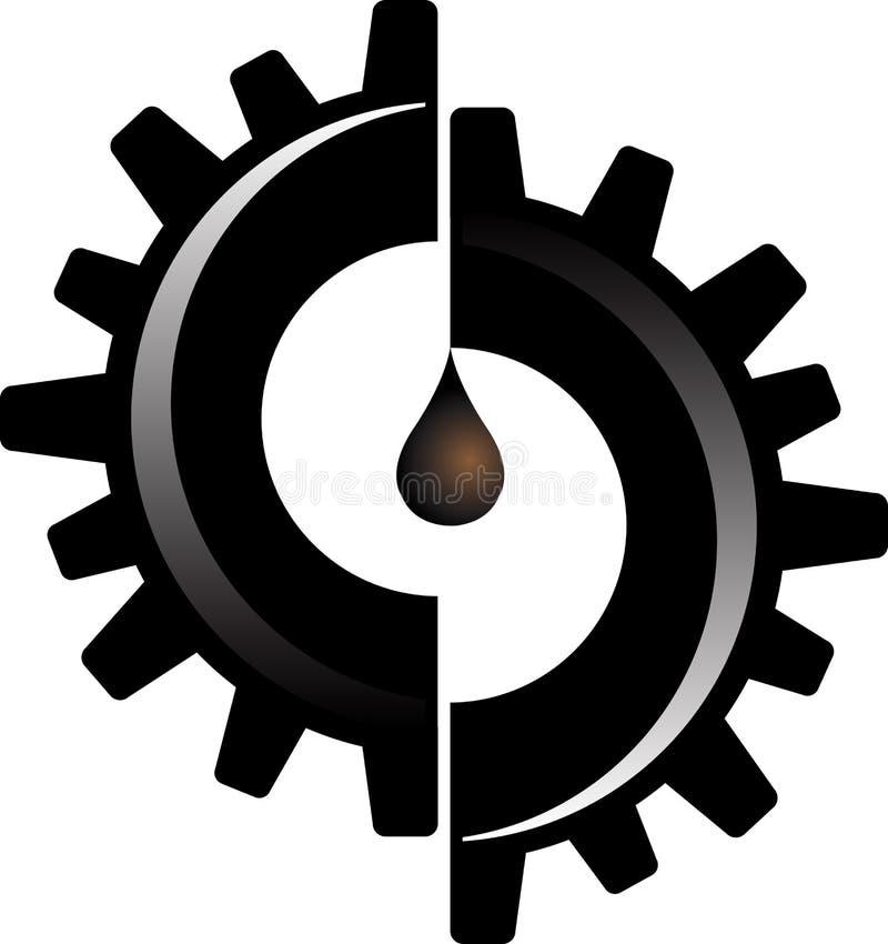 Engrenez le logo de pétrole illustration de vecteur