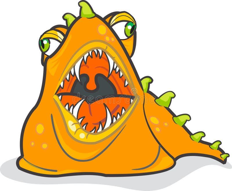 Engulla al monstruo imagen de archivo libre de regalías