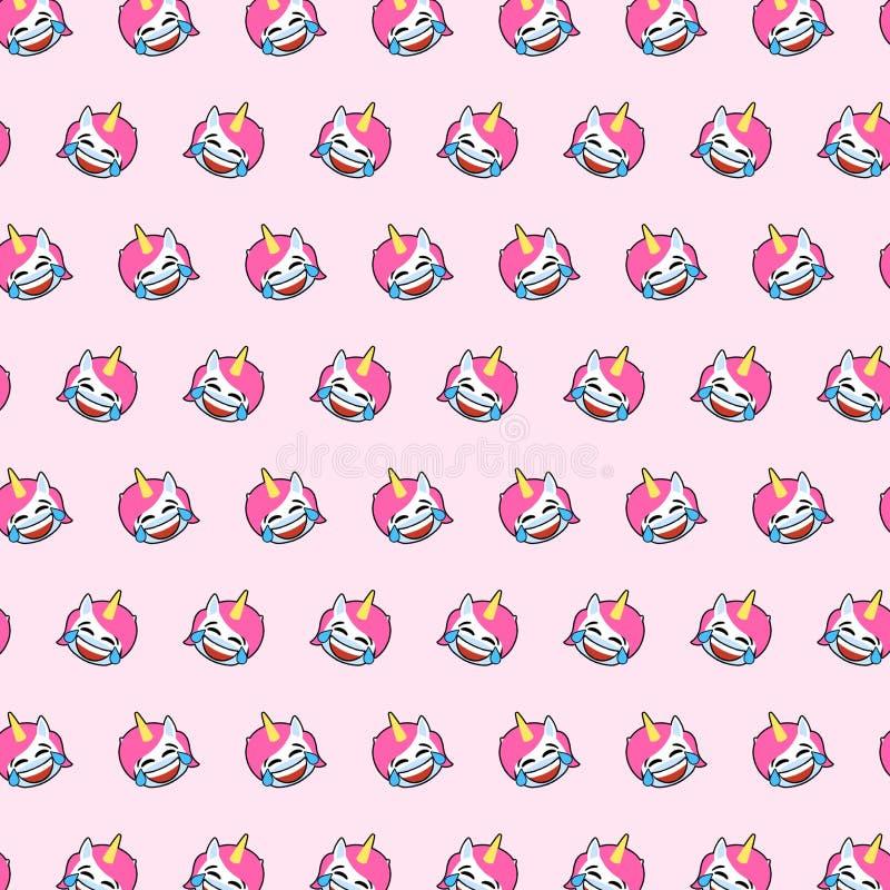 Enhörning - emojimodell 01 vektor illustrationer
