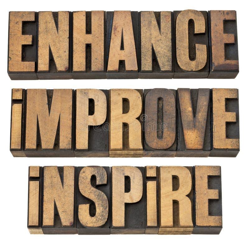 Free Enhance, Improve, Inspire Stock Photo - 24536260