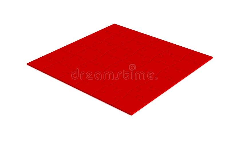 enhet över röd white för pussel vektor illustrationer
