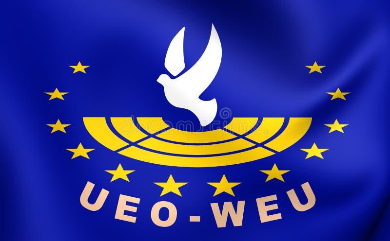 Enhet av det västra - europeisk facklig flagga vektor illustrationer