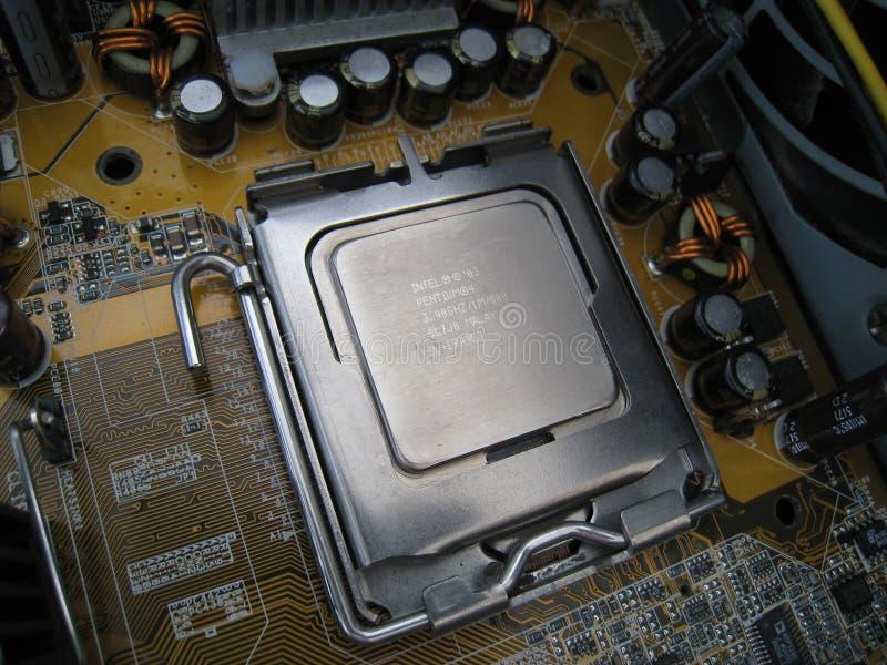 Enhet för central processor i hålighetslutsikt arkivfoton