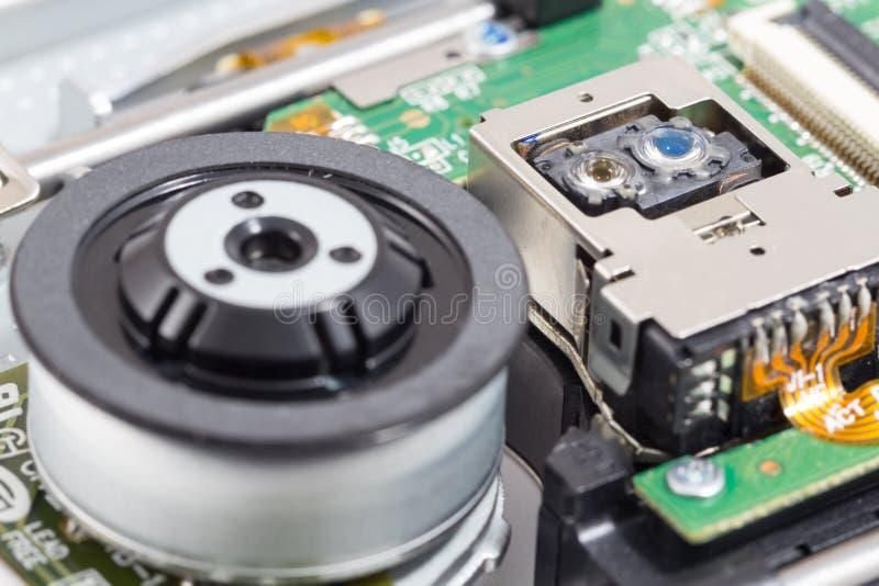 Enhet för läs- huvud för Blu-ray ROM-minne fotografering för bildbyråer