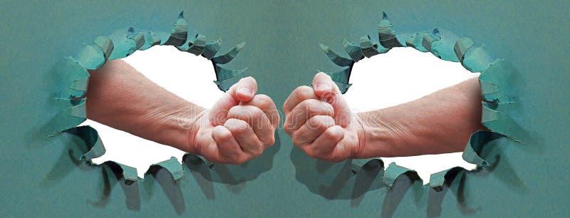Enhet för nävar för affärsidé för teamworkframgångframtid arkivfoton