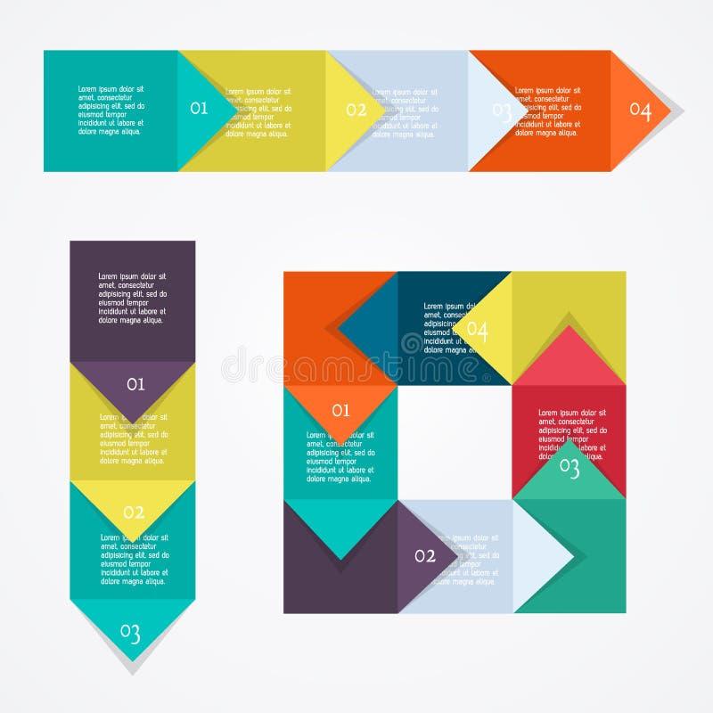 Enhet för processdiagram royaltyfri illustrationer