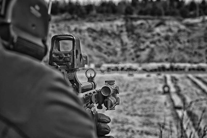Enhet för speciala operationer för kämpe i Irak royaltyfri foto