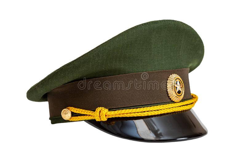Enhetligt lock av den ryska arméofficeren arkivfoto