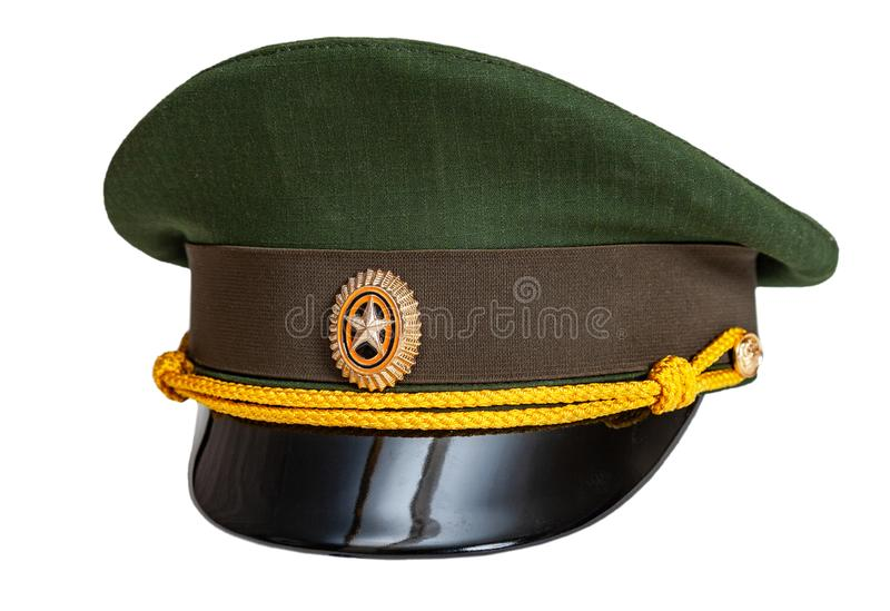 Enhetligt lock av den ryska arméofficeren arkivfoton