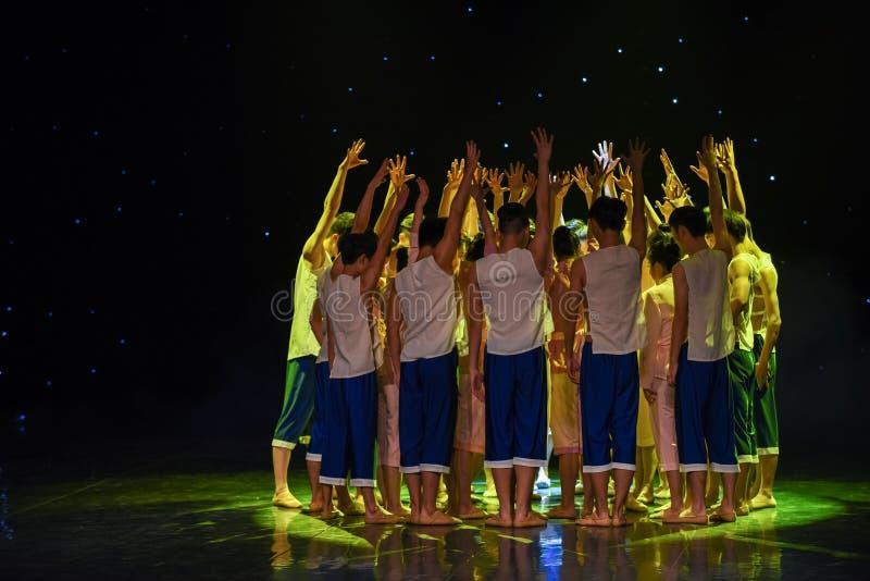 Enhetmakt-Yellow River Kör-grupp dans arkivbild