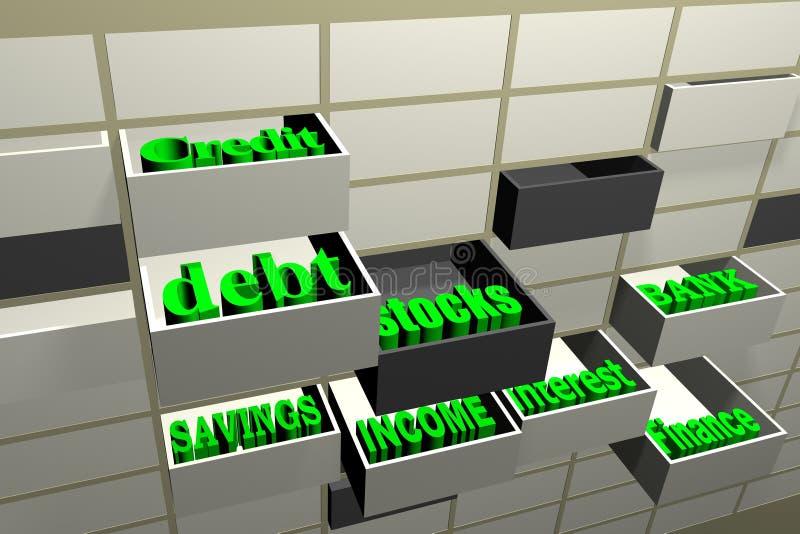 enhetsekonomi några ord vektor illustrationer