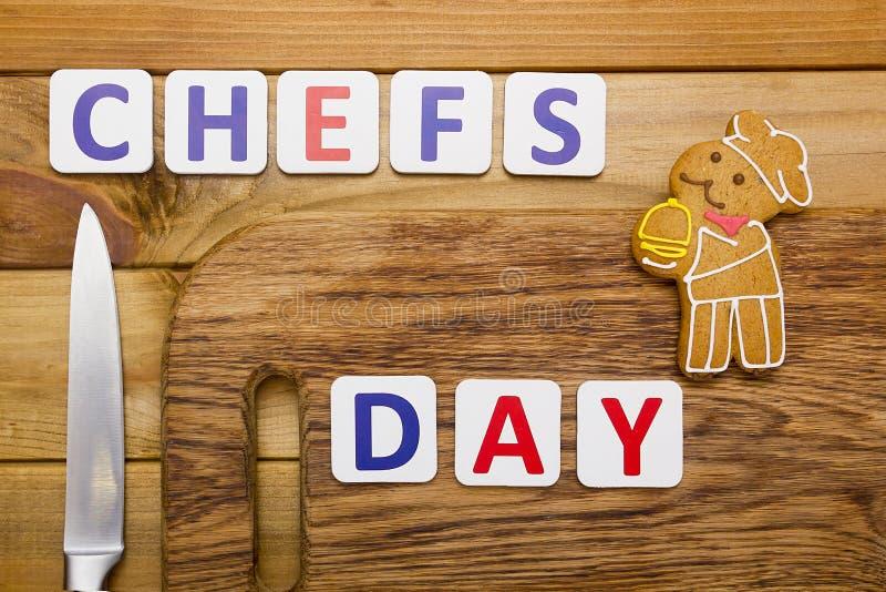 Enhorabuena al cocinero foto de archivo libre de regalías