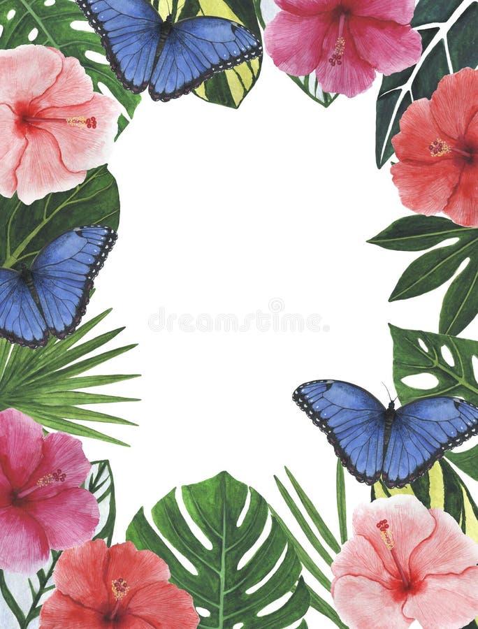 Enhorabuena botánica de la decoración del diseño de la invitación de la postal de la decoración de las decoraciones de los ejempl fotos de archivo