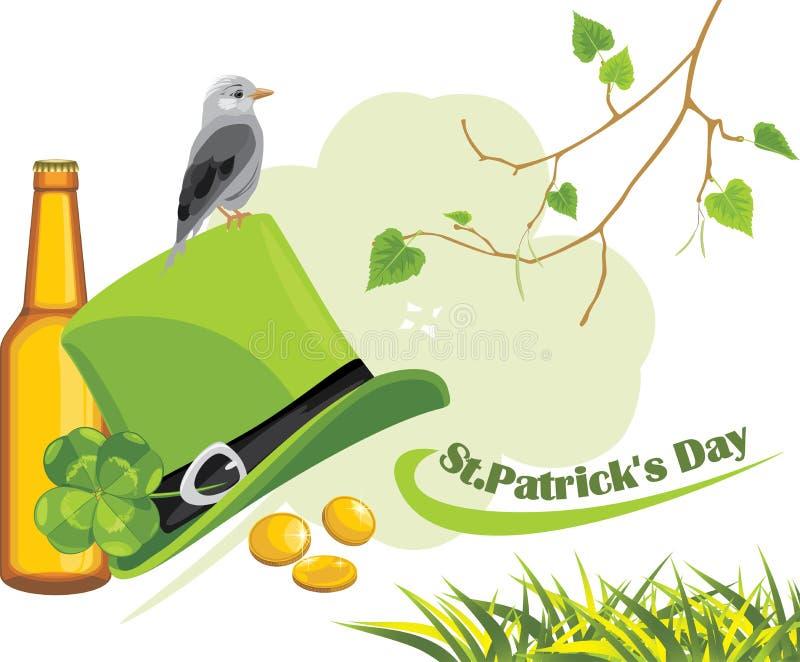 Enhorabuena con día del St. Patricks stock de ilustración