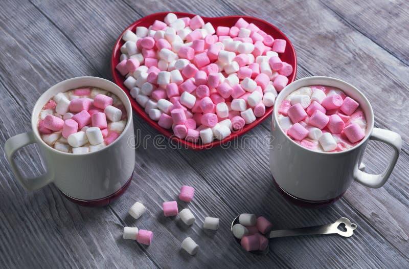Enhorabuena el el día de tarjeta del día de San Valentín foto de archivo libre de regalías