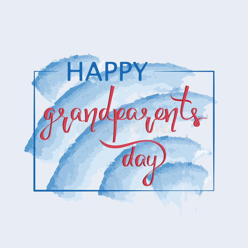Enhorabuena y el día feliz de los abuelos de las palabras libre illustration