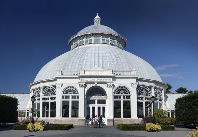 Enid a Консерватория Haupt на саде бронкс ботаническом стоковые фото