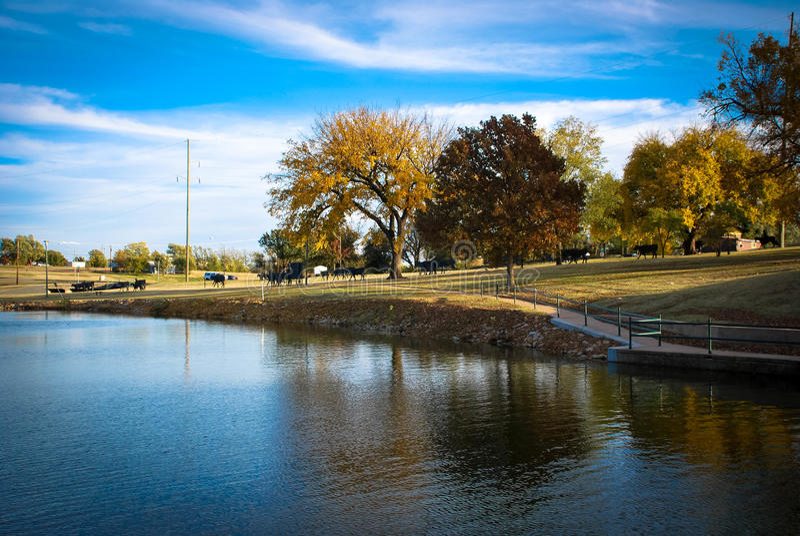 Enid, Oklahoma, Park stock afbeelding