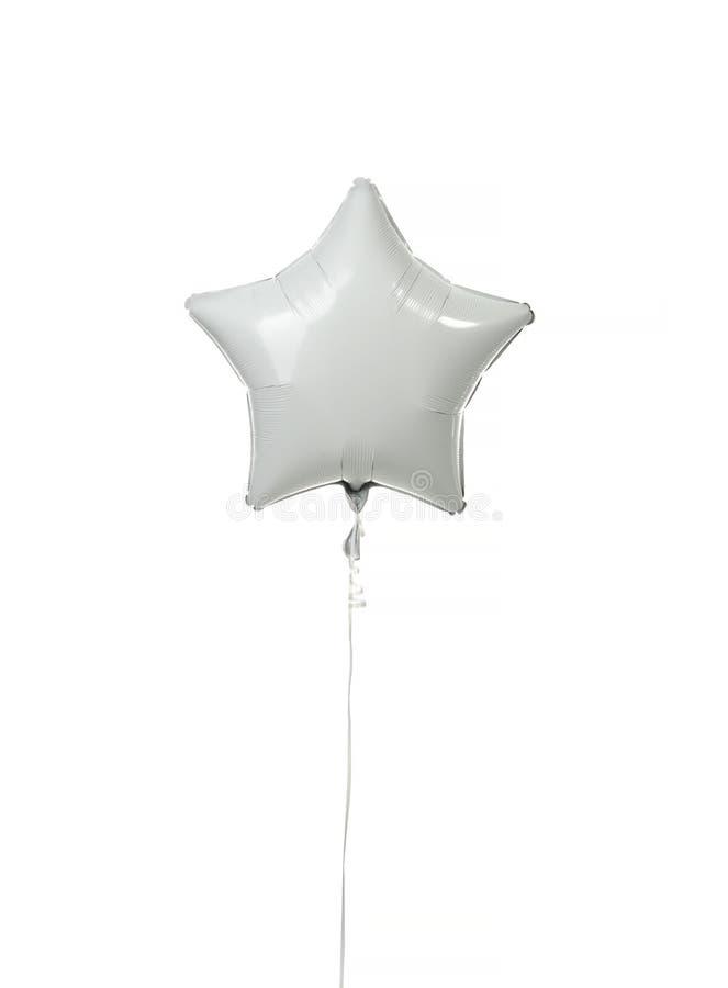 Enig de ballonvoorwerp van de witgoudster voor verjaardagspartij stock foto