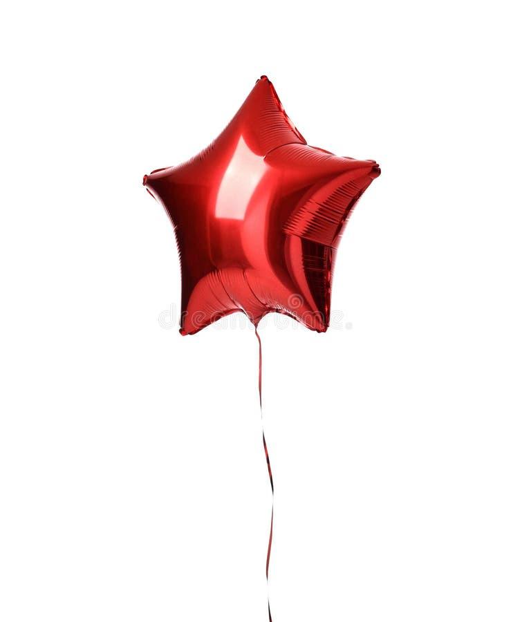 Enig groot rood de impulsvoorwerp van de sterballon voor geïsoleerde verjaardag royalty-vrije stock foto's