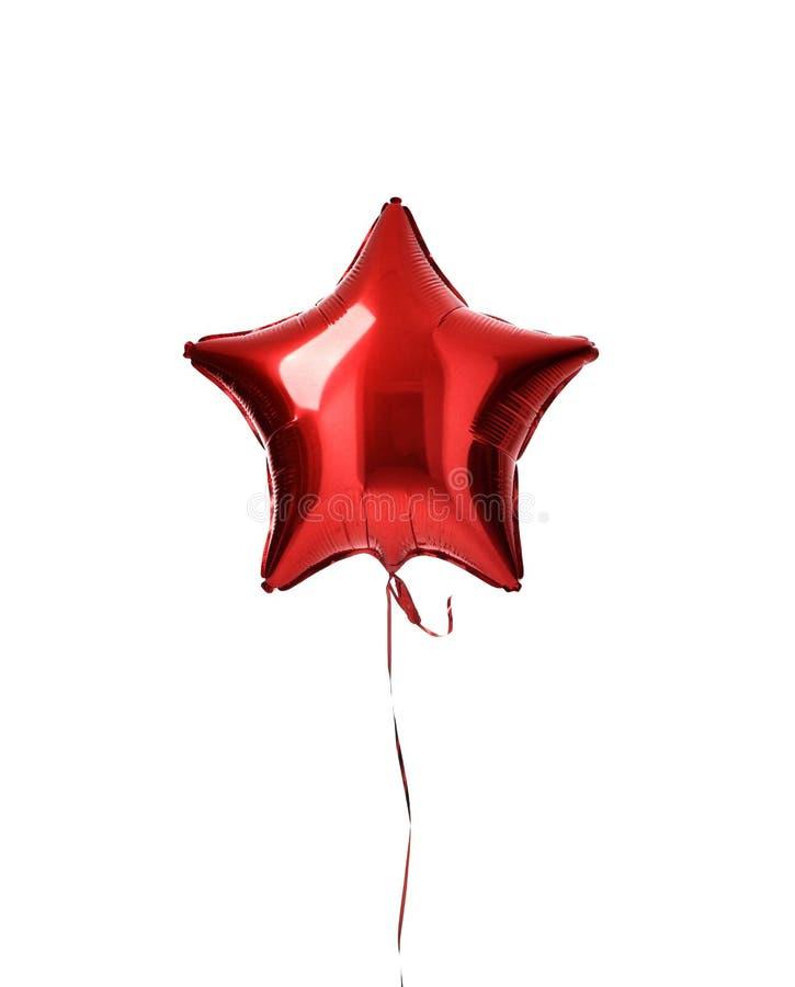 Enig groot rood de impulsvoorwerp van de sterballon voor geïsoleerde verjaardag royalty-vrije stock afbeelding