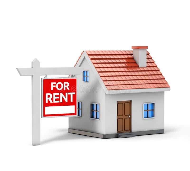 Enig huis voor huur stock illustratie