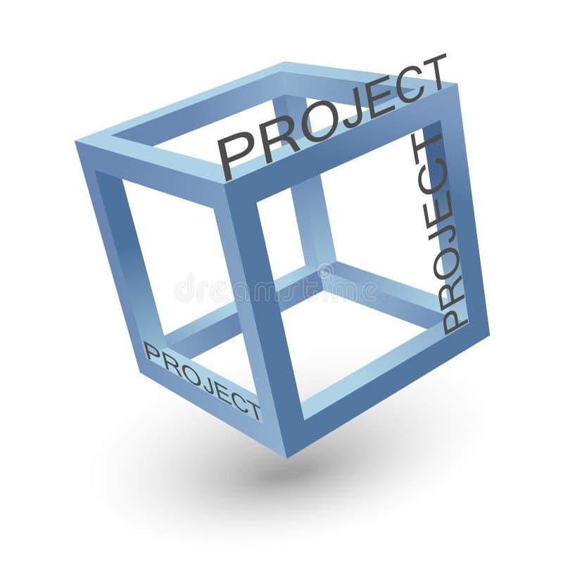 Enig kubusproject vector illustratie