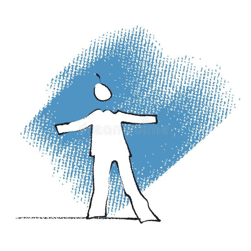 Enig persoonssilhouet vector illustratie