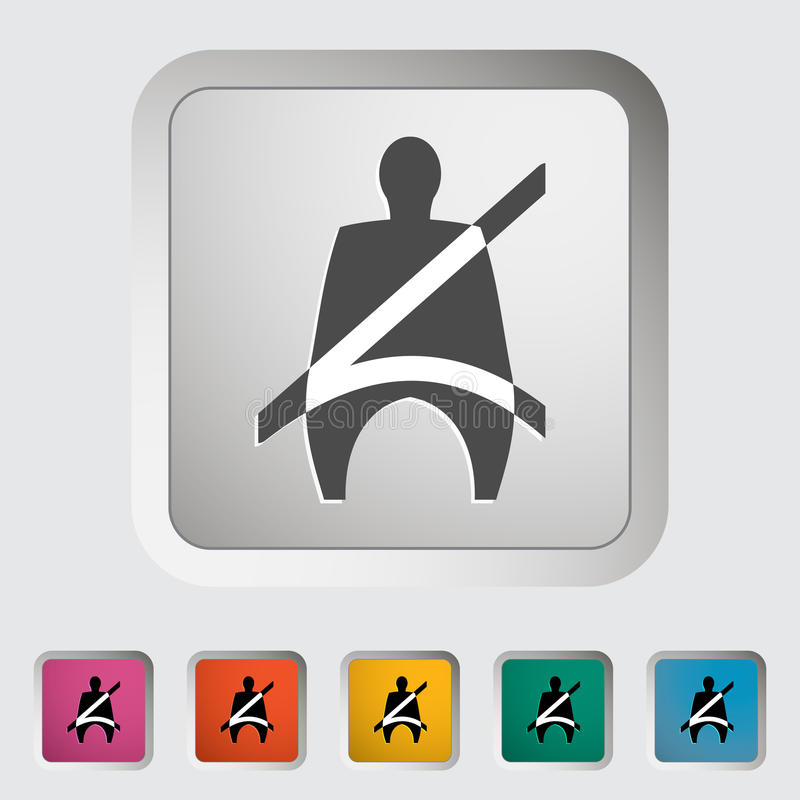 Enig Vlak pictogram stock illustratie