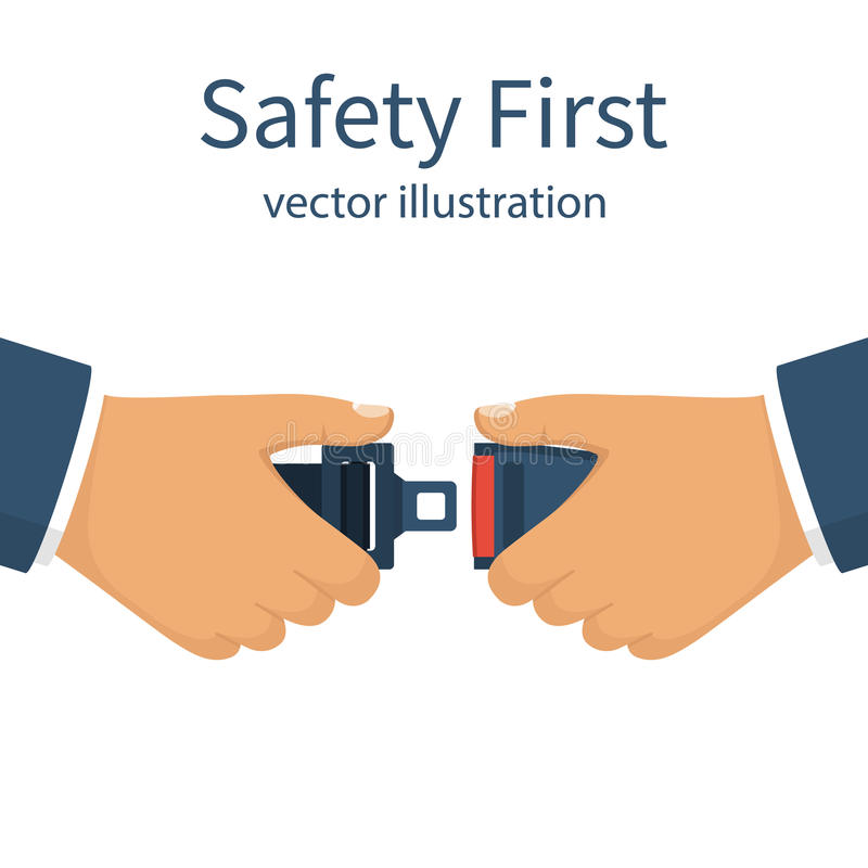 Enig Vlak pictogram Het eerste concept van de veiligheid royalty-vrije illustratie