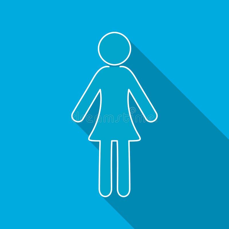 Enig vrouwen vlak pictogram stock illustratie