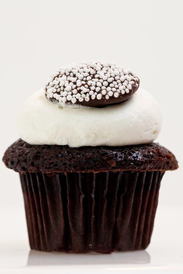 Enige Chocolade Cupcake stock foto's