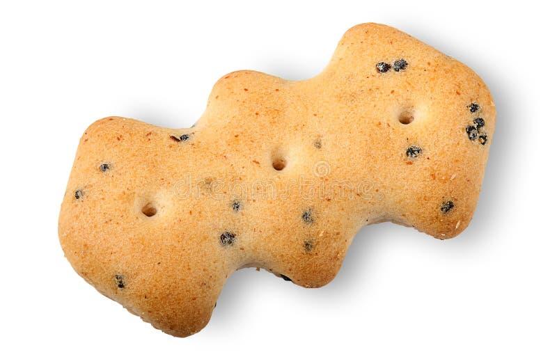 Enige crackers met papaverzaden royalty-vrije stock afbeeldingen