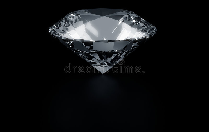 Enige diamant stock illustratie
