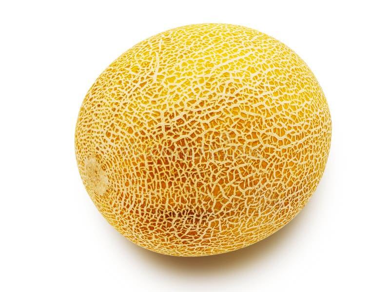 Enige die meloen op wit wordt geïsoleerd royalty-vrije stock foto