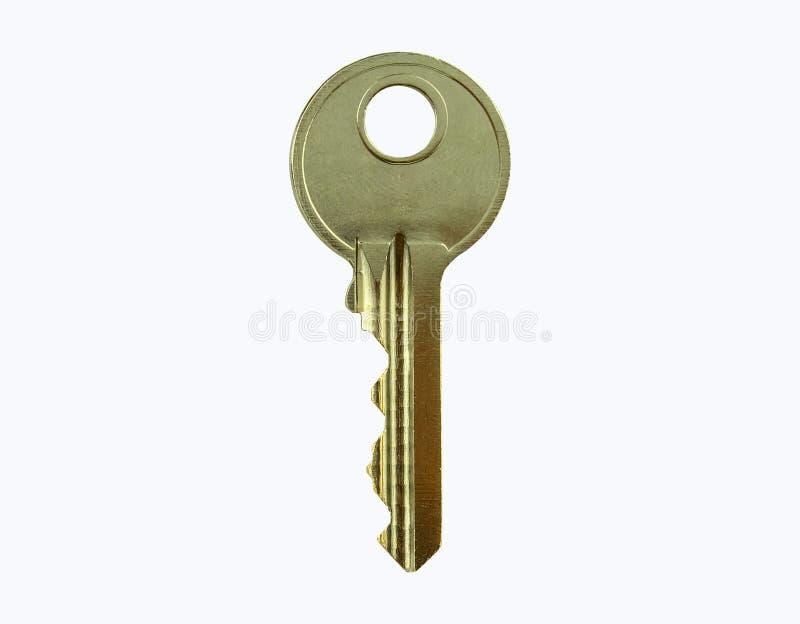 Enige die sleutel met het knippen van weg wordt geïsoleerd stock foto
