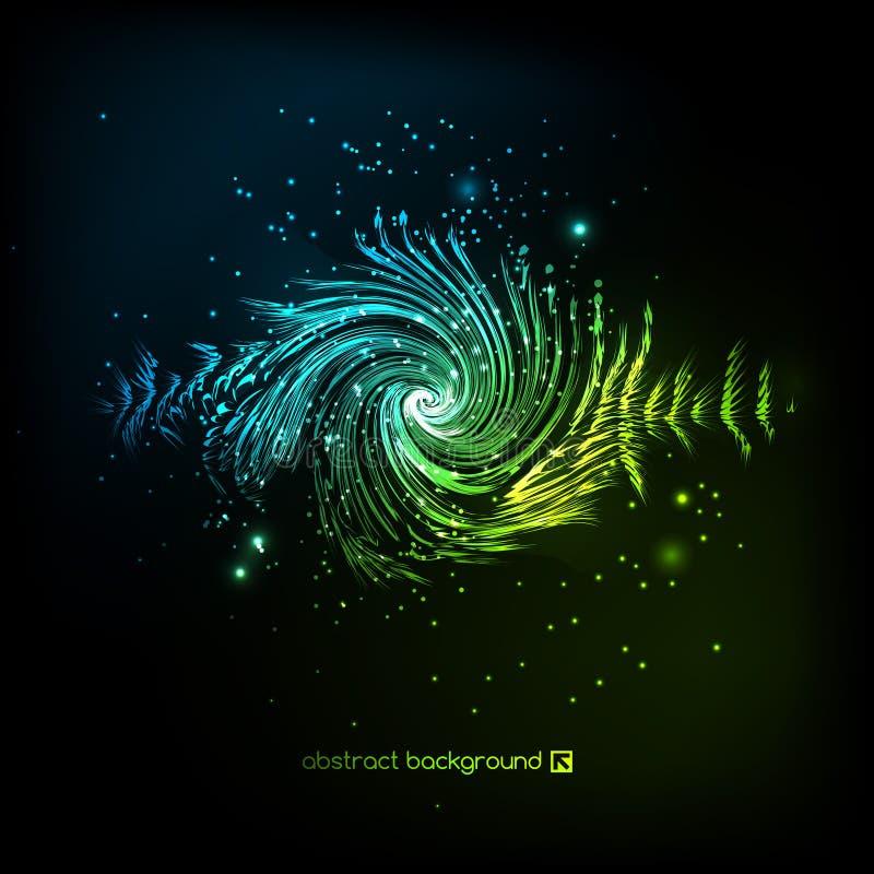 Enige kleurrijke eq, equaliser Vector correcte audiogolf, frequentie, melodie, sound-track in nacht voor elektronische dans stock illustratie