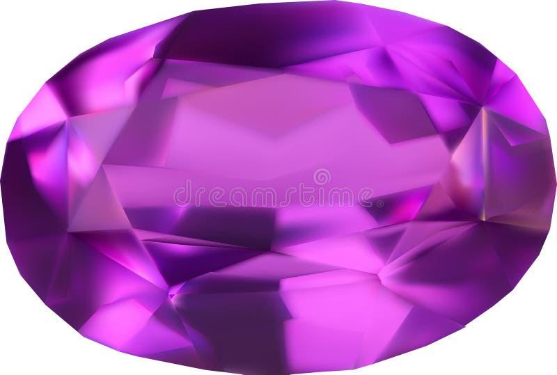 Enige lilac gem op wit stock illustratie