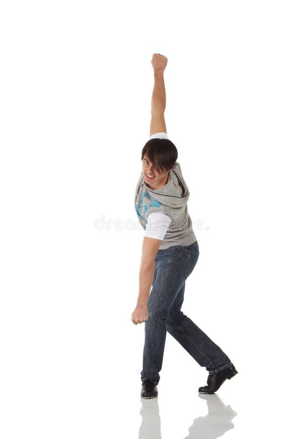 Enige mannelijke tapdanser stock afbeeldingen