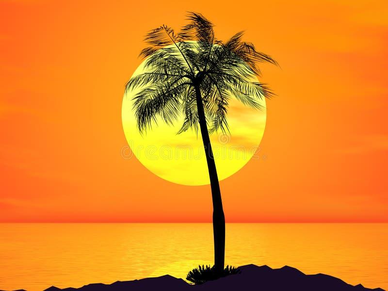Enige palm vector illustratie