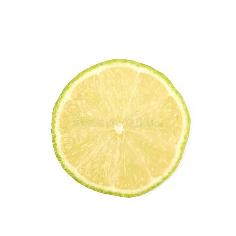 Enige plak van een kalkfruit stock foto