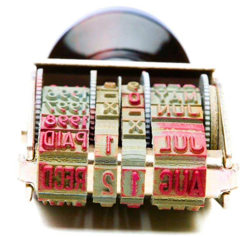 Enige RubberZegel stock afbeelding