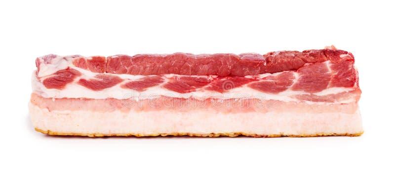 Enige silce van vers bacon stock afbeeldingen