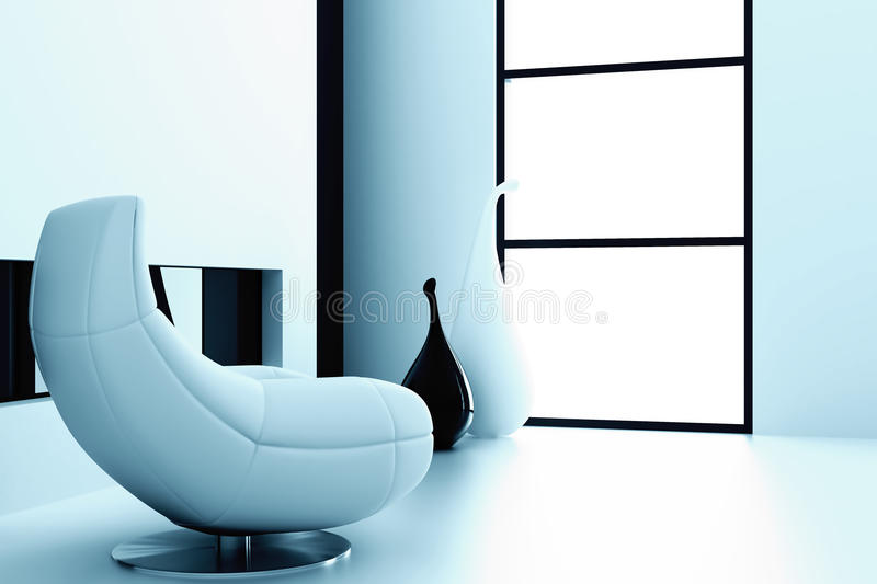 Enige stoel royalty-vrije stock foto
