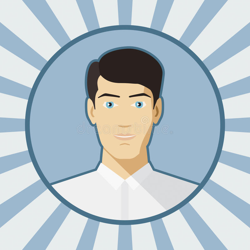 Enige vectormensenavatar stock illustratie