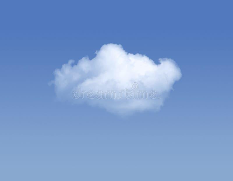 Enige wolk stock foto's